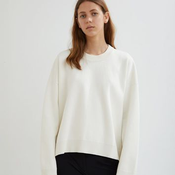 Oversized Cotton Side Zip Sweater by Paco Rabanne- La Garçonne