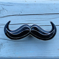 Mustache Drawer Knob / Cabinet Knob in Black (MK138)