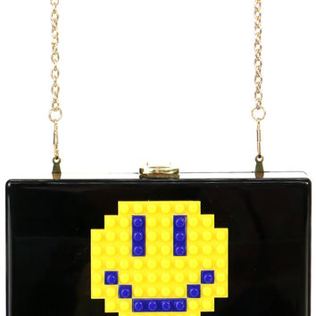 SMILEY FACE LEGO CLUTCH