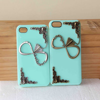 2 of set of iphone case bronze silvery one direction with airplane pendant iPhone case set 1D directioner phone case