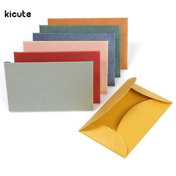 50pcs/set Vintage Colorful Small Colored Pearl Blank Mini Paper Envelopes Wedding Invitation Envelope Gilt Envelope DIY Crafts