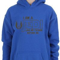 Star Wars Adult Hoodie I am a Jedi