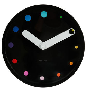 Black Karlsson Eclipse Wall Clock