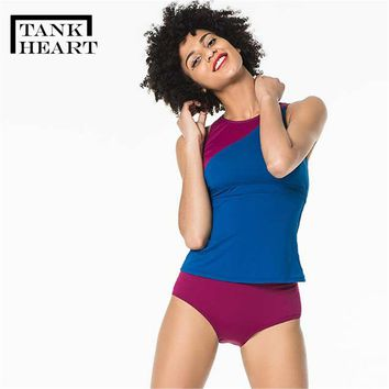 Tank Heart Sexy Swimsuit with shorts Plus Size Swimwear Tankini Swimsuits Women Two Piece Swimming Suit Swim Bathing Suit XXL