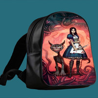 Cheshire Cat Alice for Backpack / Custom Bag / School Bag / Children Bag / Custom School Bag ***