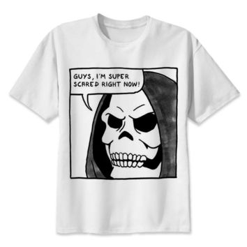 meme TShirt men funny demons satanism satan evil death Halloween scary horror grim reaper t shirt anime t-Shirts men top tees