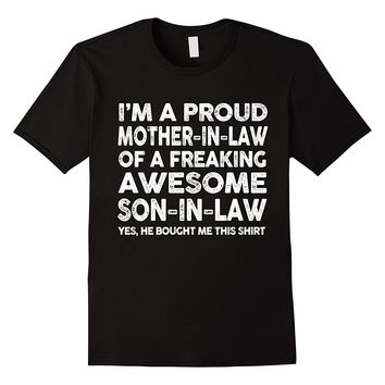 Proud Mother In Law Of Awesome Son In Law T-Shirt