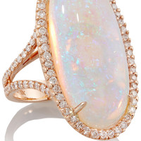 Kimberly McDonald - 18-karat rose gold, crystal opal and diamond ring