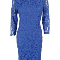 Spense Women's 3/4 Sleeve Lace Dress