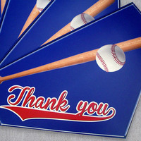 Baseball Thank You Card - Baseball Bat Homeplate - Male Thank You Card - Teachers Appreciation Day - Teacher Thank You Card - Made to Order