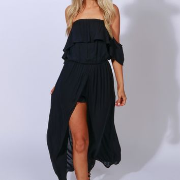 Buena Vista Open Romper Black
