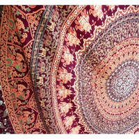 Tapestries Tapestry Red Large King Elephant Mandala Hippie Wall Decor Dorm Room Divider