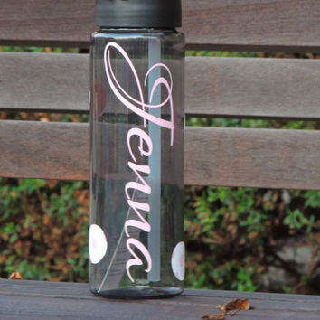 sports water bottle, monogrammed tumbler, personalized bottle, work out water bottle, gift, bachelorette party gift, wedding party