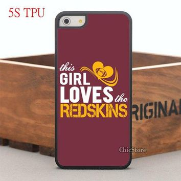 New Love Redskins TPU Silicon Case for iPhone 6 6plus 6S 6S 7plus 5s  and Case for Samsung Galaxy Note2 3 Note4 5 S4 S5 S6 edge