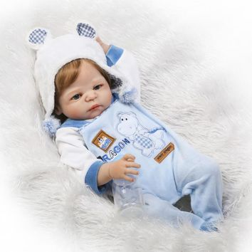 Silicone Baby - Reborn Full Body Doll - Adorable Baby Boy