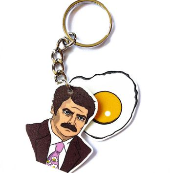 Breakfast keychain