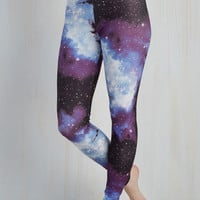 90s Long Skinny Fresh Take Leggings in Blue Universe