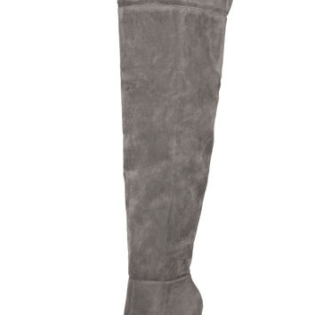 Alba Over Thigh High Boot (Grey)