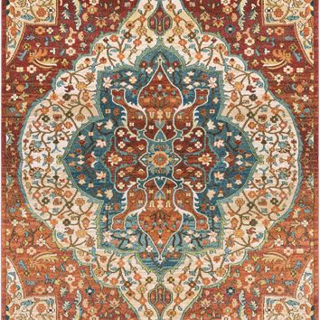 Surya Masala Market Classic Red MMT-2303 Area Rug