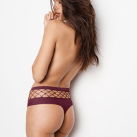 Bold Fishnet Raw Cut High-waist Thong Panty - Very Sexy - Victoria's Secret