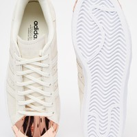 adidas Originals Superstar 80s Rose Gold Metal Toe Cap Trainers at asos.com