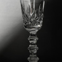 Hand Cut Crystal Chalice Signed O'Rourke
