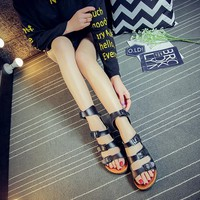 Summer fashion couple cork slippers