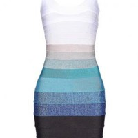 Bqueen Ombre Bandage Dress H151E
