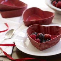 Heart Dessert Dish, Set of 2 | Pottery Barn