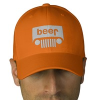 beer jeep embroidered hat from Zazzle.com