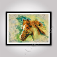 Horse print Horse wall art Horse poster Horse home decor  Rustic decor Horse home print Pritnable Horse Instant download Animal poster