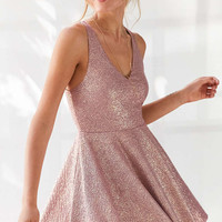 Silence + Noise Sinderella Sparkle Mini Dress - Urban Outfitters