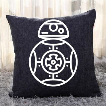 BB 8, Star Wars Throw Pillow Cover