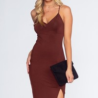 This Kiss Midi Dress - Currant
