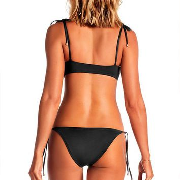 VITAMIN A Black Elle Tie Side Bottom
