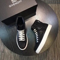 Givenchy Men's Leather Fashion High Top Sneakers Shoes