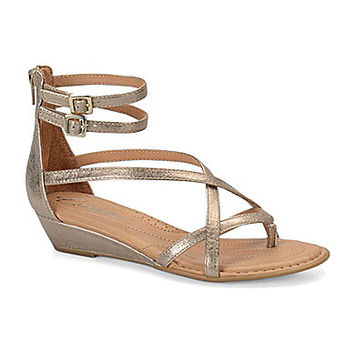 Born Crown Daphne Metallic Gladiator Sandals - Gold