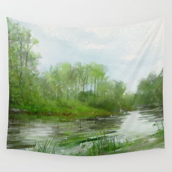 The Green Magic of Ordinary Days Wall Tapestry by IvaW