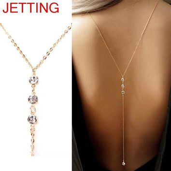 ac DCCKO2Q Sexy Body Chain Belly Beach Harness Necklace Women Gold Rhinestone Body Chain Jewelry