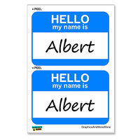 Albert Hello My Name Is - Sheet of 2 Stickers