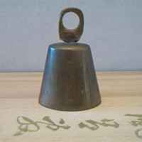 Vintage Brass Cow Bell Country Rustic Farmhouse Home Decor