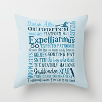 Harry Potter - All Quotes Throw Pillow by MarcoMellark