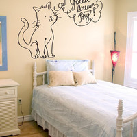 Vinyl Wall Decal Sticker Gotta Dream Big Cat #OS_DC654