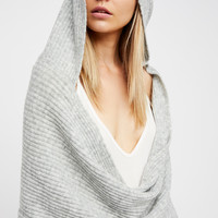 Free People Bottom Line Hooded Rib Cowl