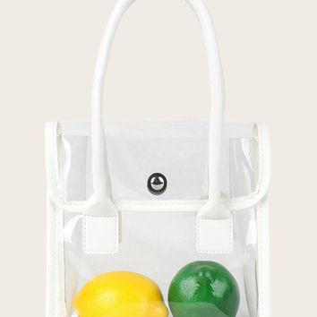Clear Tote Bag With Double Handle