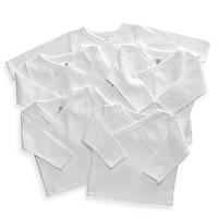 Little Tots 5-Pack White Long Sleeve Tees