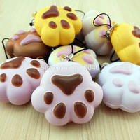 Kawaii Soft Cartoon Squishy Bread Puppy Footprint Collectibles Kid Toy
