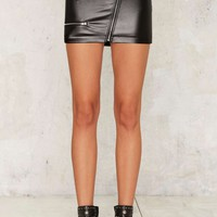 Nasty Gal Fast Track Moto Mini Skirt