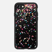 iPhone 7 Case (Jet Black), Colorful Confetti Party Explosion Transparent by Organic Saturation | Casetify (iPhone 6s 6 Plus SE 5s 5c & more)