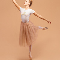 The Tulle Skirt - Champagne/Gold